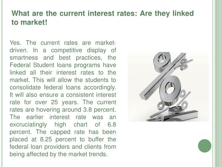 What are the current interest rates: Are they linked to market!