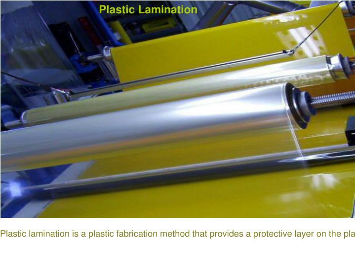 Plastic Lamination