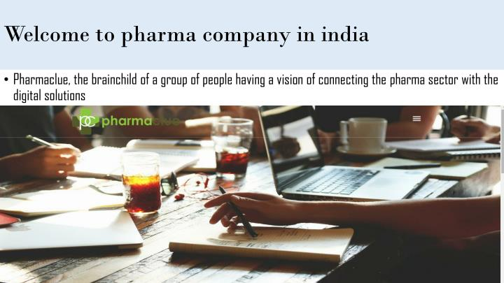 Welcome to pharma company in india