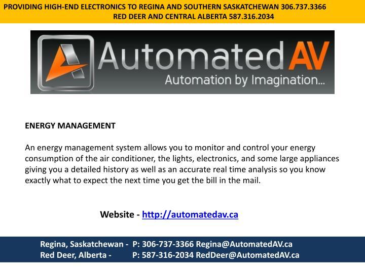 PROVIDING HIGH-END ELECTRONICS TO REGINA AND SOUTHERN SASKATCHEWAN 306.737.3366