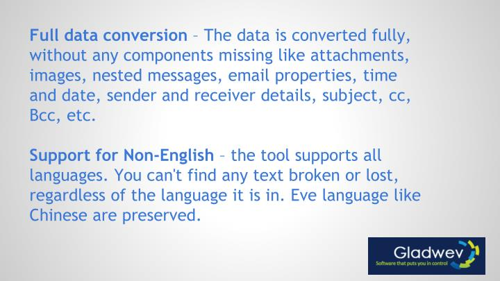 Full data conversion