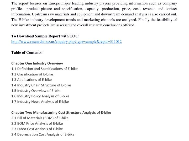 The report focuses on Europe major leading industry players providing information such as company