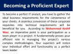becoming a proficient expert