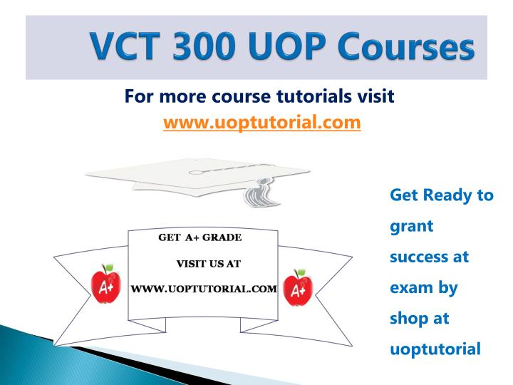 Vct 300 uop courses