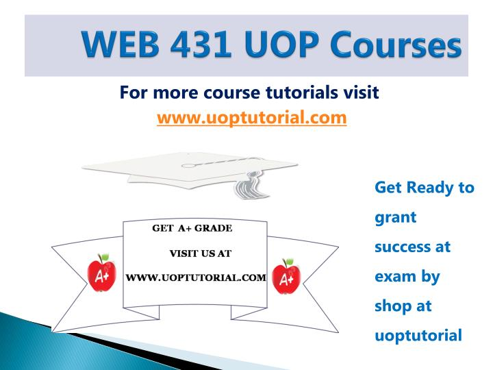 Web 431 uop courses