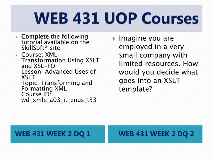 WEB 431