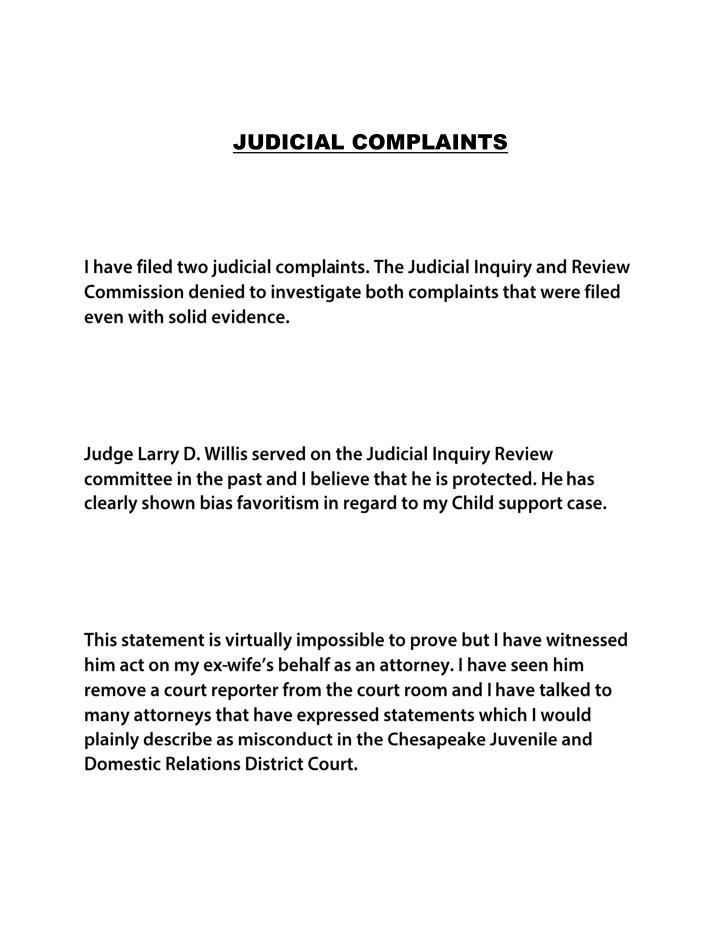 JUDICIAL COMPLAINTS