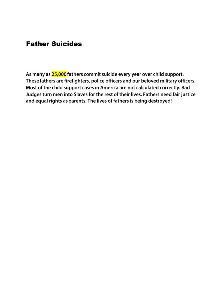 Father Suicides