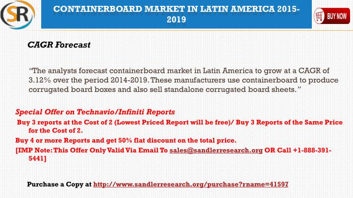 Containerboard market in latin america 2015 20191