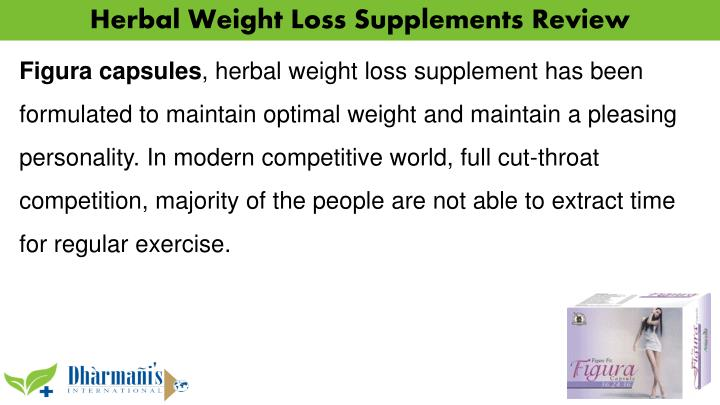 Herbal Weight Loss Supplements Review