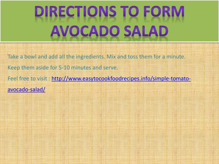Directions To Form