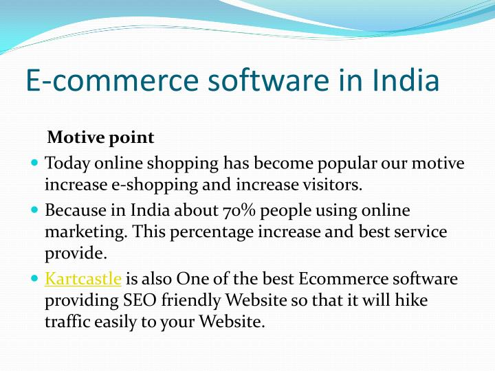 E-commerce software in India