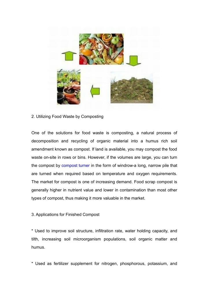 2. Utilizing Food Waste by Composting