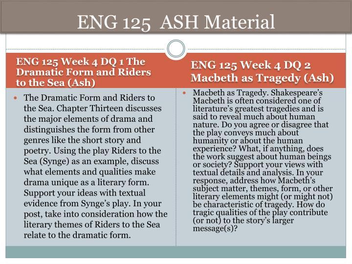 ENG 125  ASH Material
