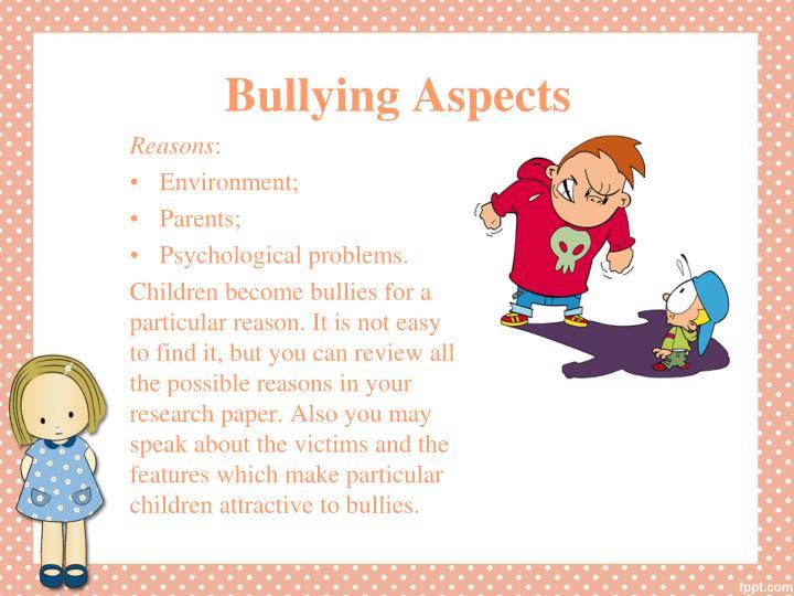 Bullying Aspects