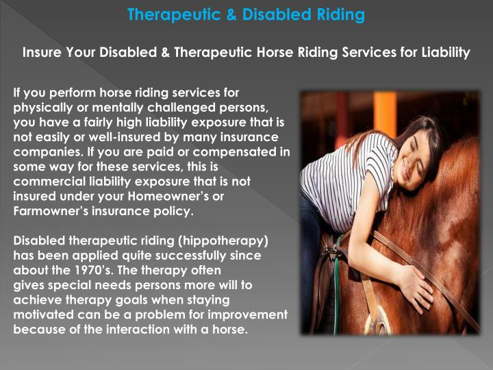 Therapeutic & Disabled Riding