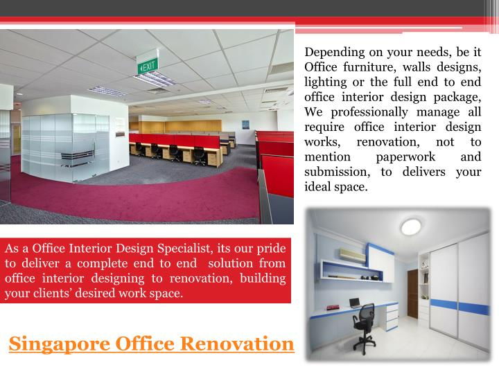 Depending on your needs, be it Office furniture, walls designs, lighting or the full end to end offi...