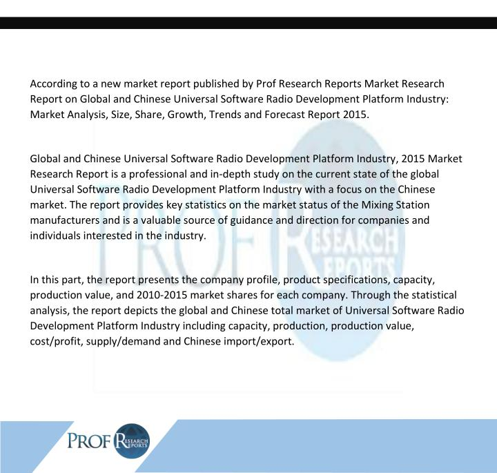 According to a new market report published by Prof Research Reports Market Research