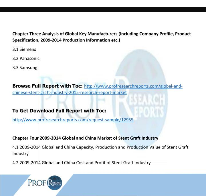 Chapter Three Analysis of Global Key Manufacturers (Including Company Profile, Product