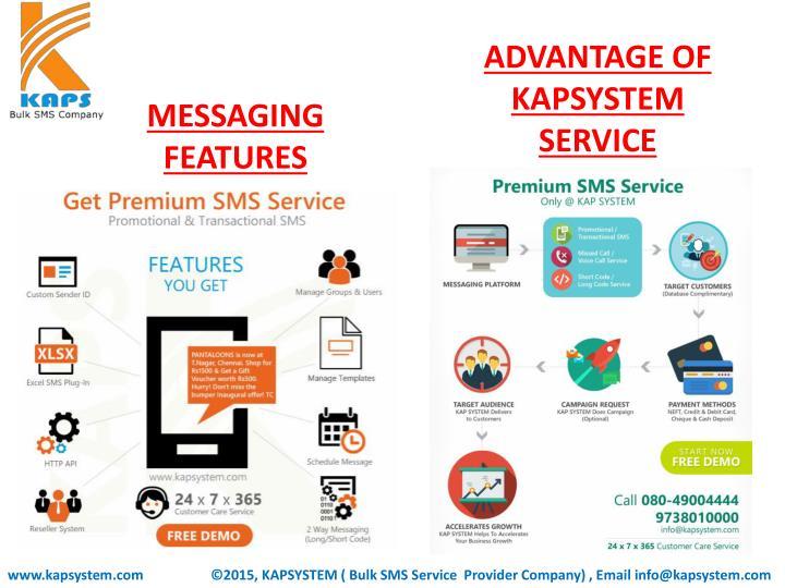 ADVANTAGE OF KAPSYSTEM SERVICE