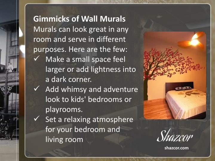 Gimmicks of Wall Murals