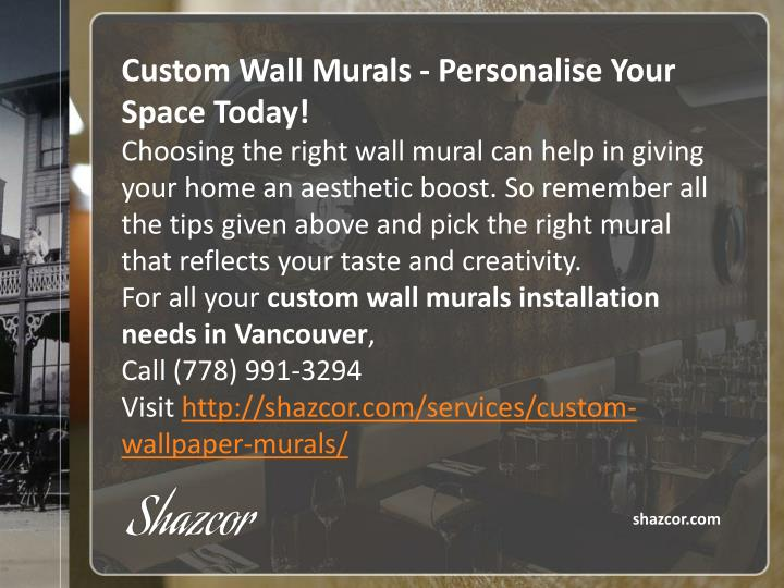 Custom Wall Murals -