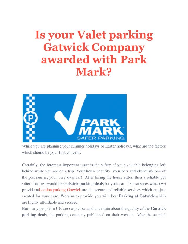 Is your Valet parking