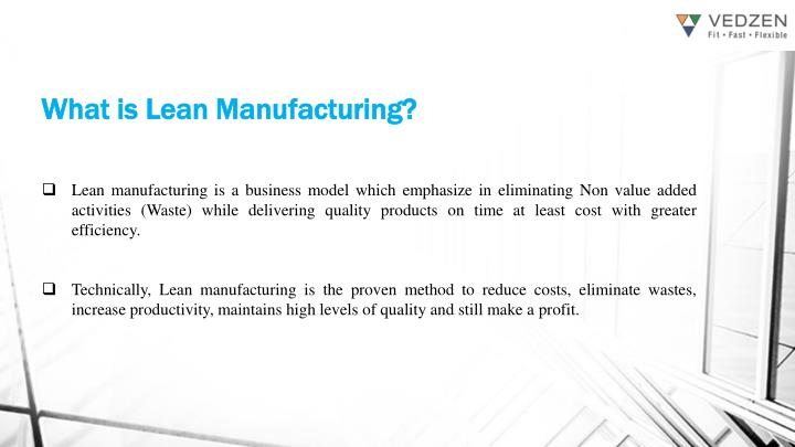 What is lean manufacturing