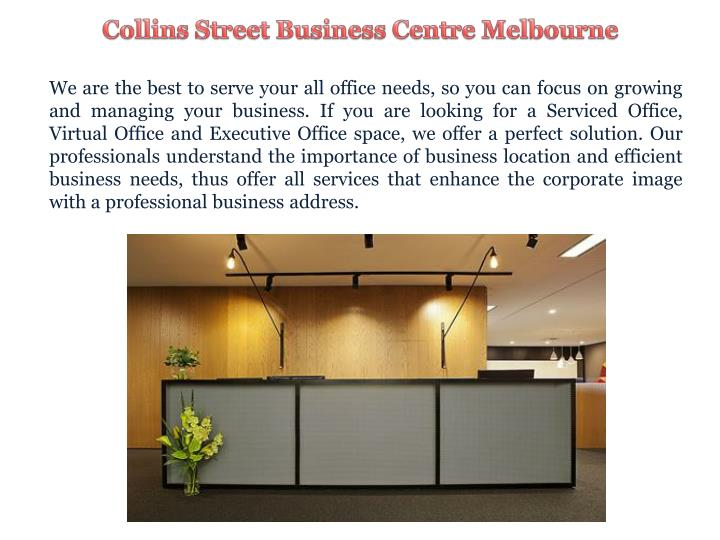 Collins Street Business Centre Melbourne