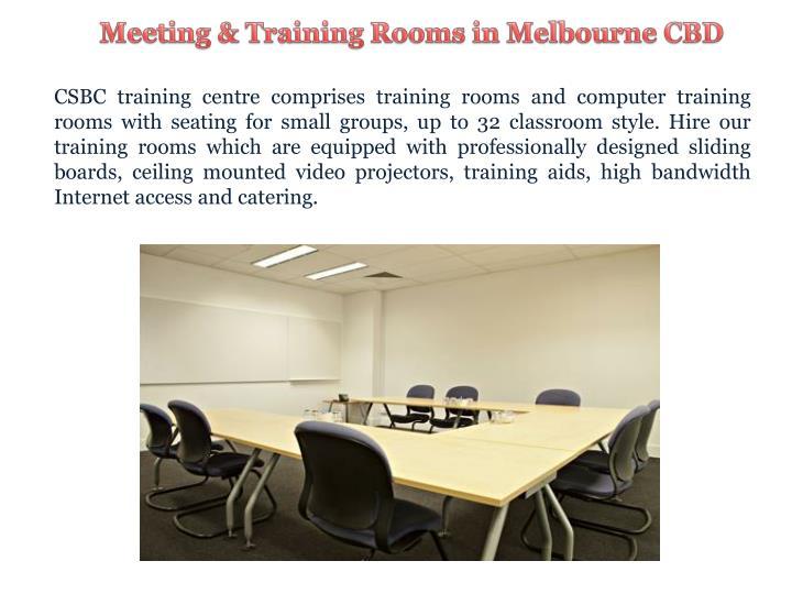 Meeting & Training Rooms in Melbourne CBD