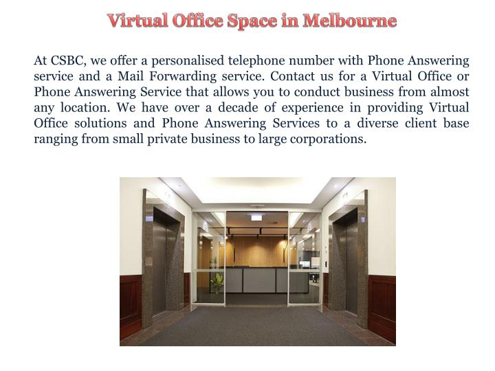 Virtual Office Space in Melbourne