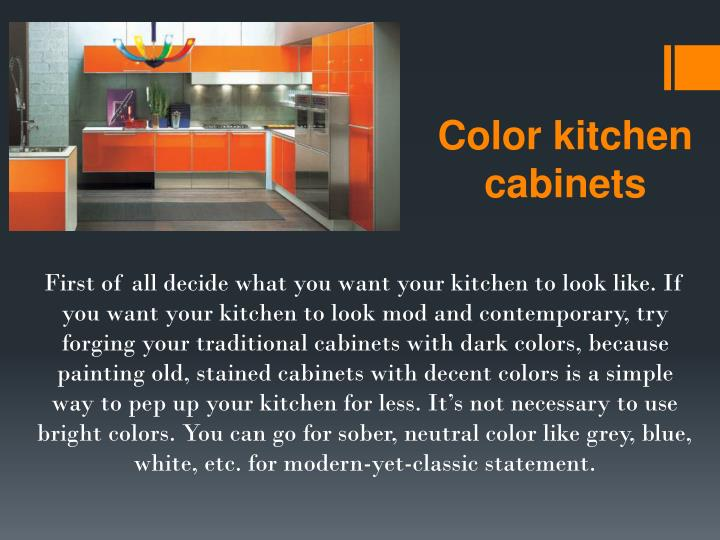 Color kitchen