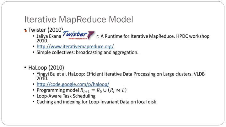 Iterative MapReduce Model