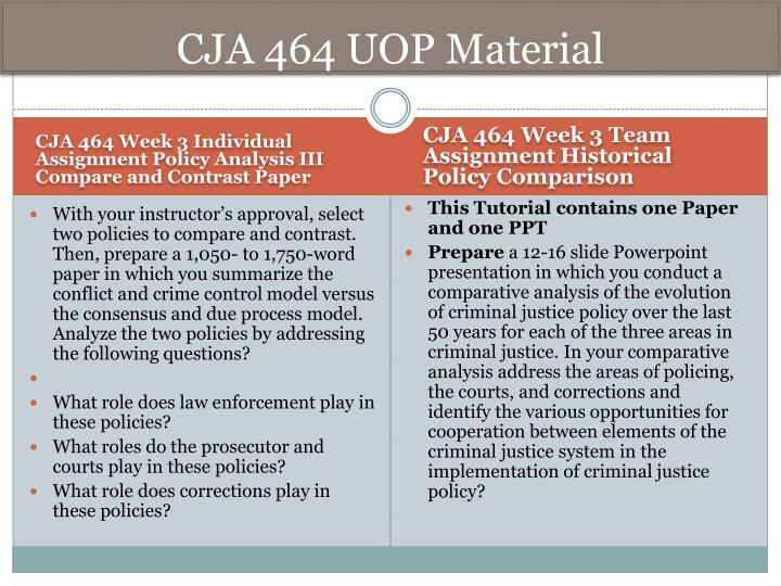 CJA 464 UOP