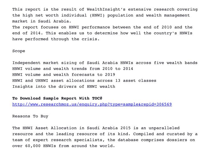 ThisreportistheresultofWealthInsight'sextensiveresearchcovering