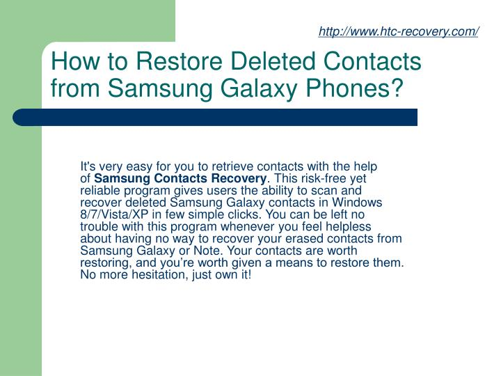 How to restore deleted contacts from samsung galaxy phones