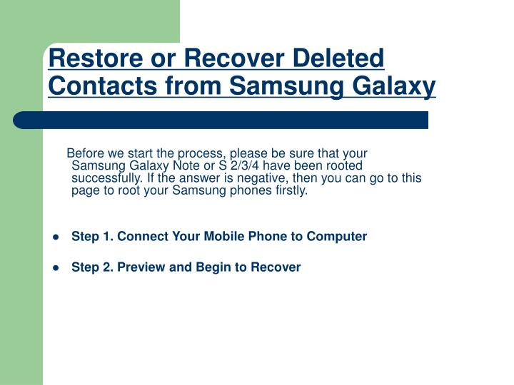 Restore or recover deleted contacts from samsung galaxy