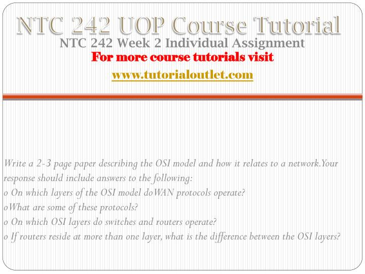 NTC 242 UOP Course