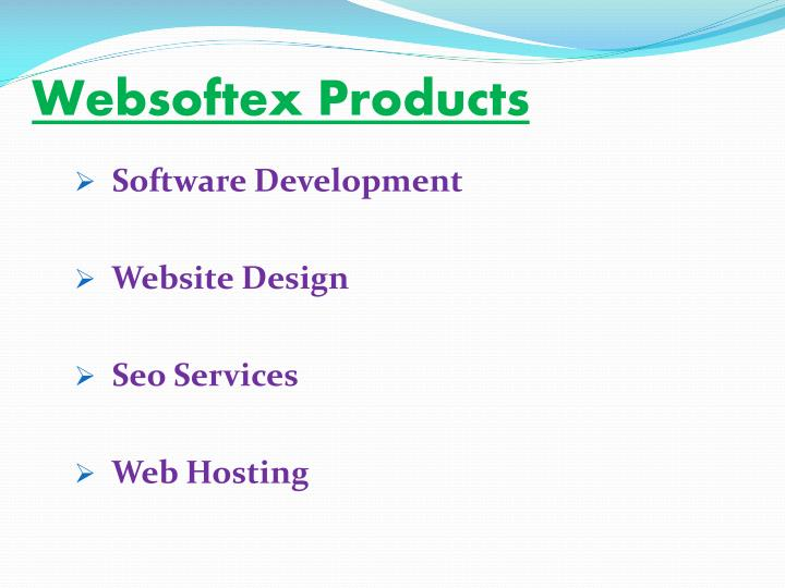 Websoftex Products