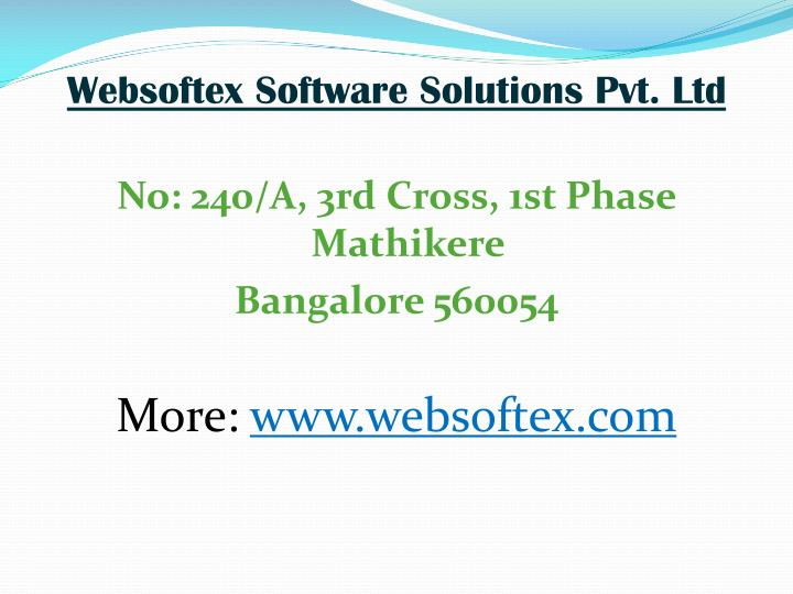 Websoftex Software Solutions Pvt. Ltd