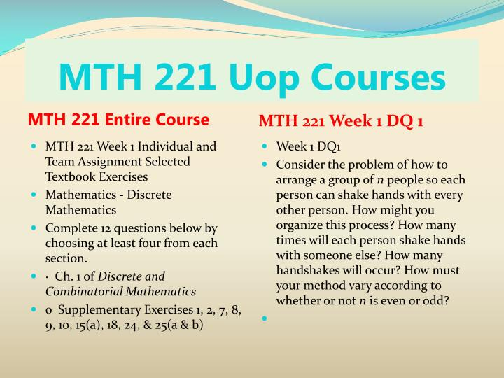 Mth 221 uop courses1