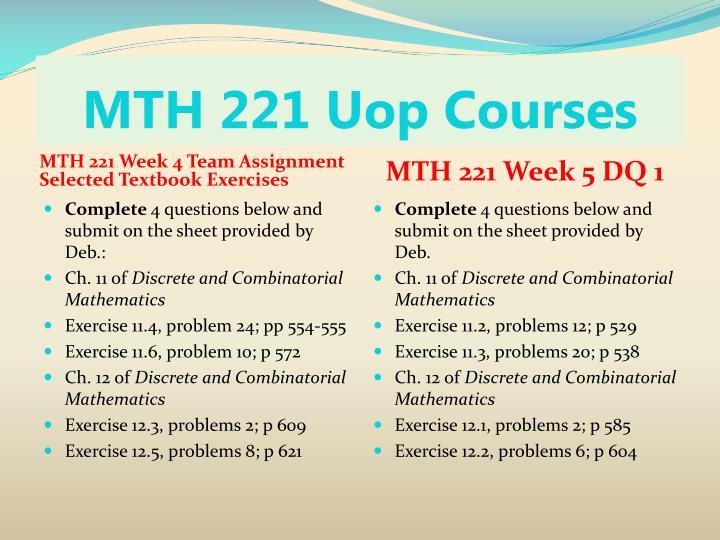 MTH 221