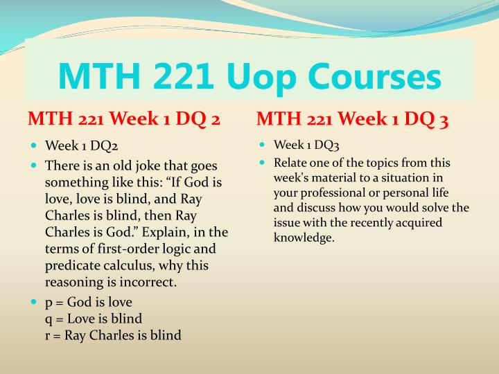 Mth 221 uop courses2