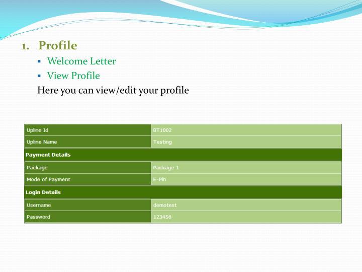 1.   Profile