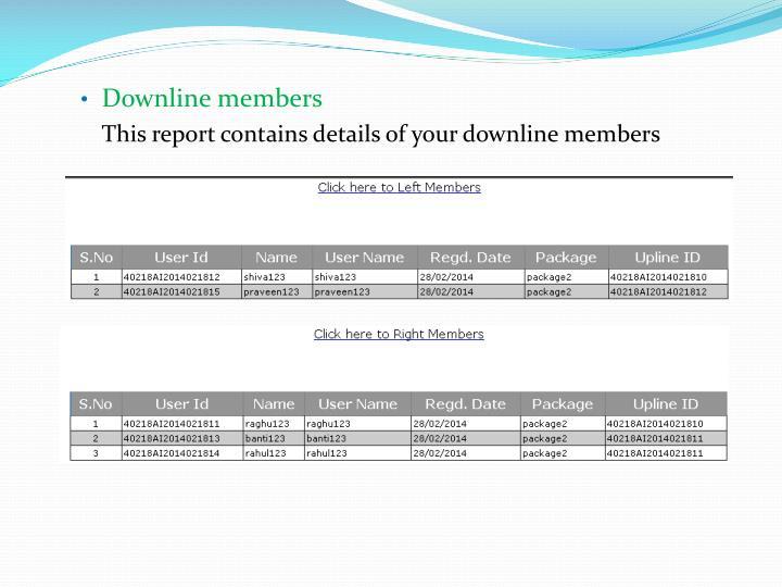 Downline members