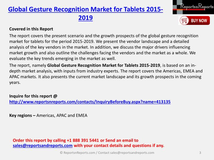 Global gesture recognition market for tablets 2015 20192