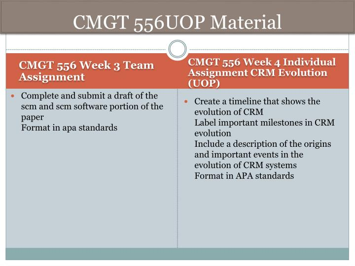 CMGT 556UOP
