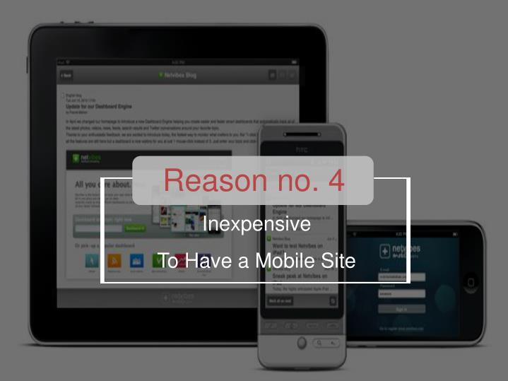 Reason no. 4