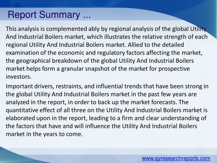 Report Summary ...