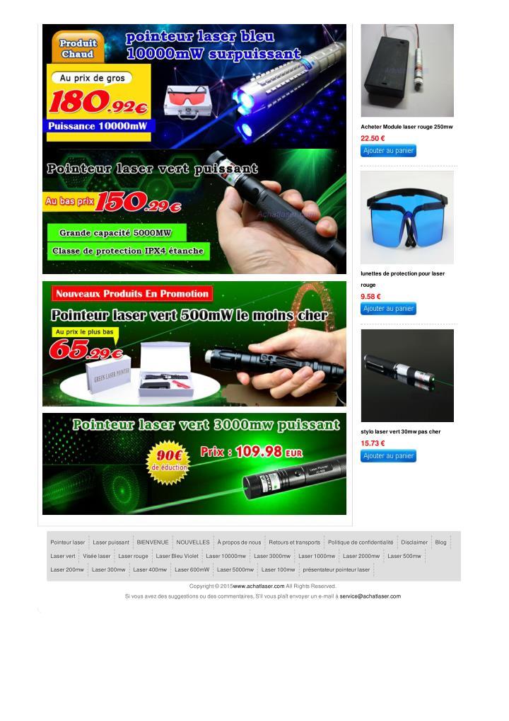 Acheter Module laser rouge 250mw